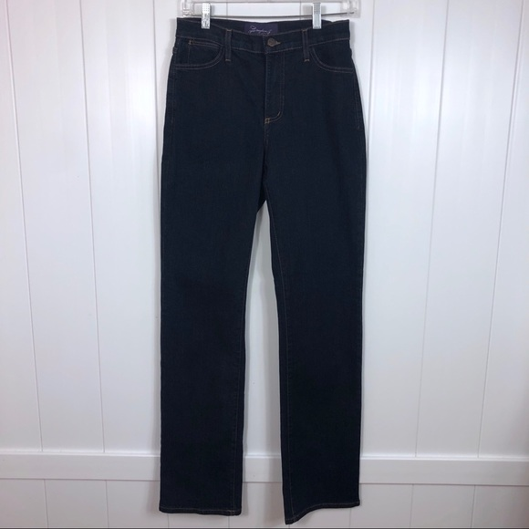 NYDJ Denim - NYDJ straight leg jeans size 4 long length